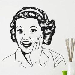Samolepky na zeď Retro žena z komiksu 1065