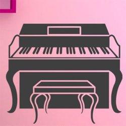 Samolepky na zeď Piano 010