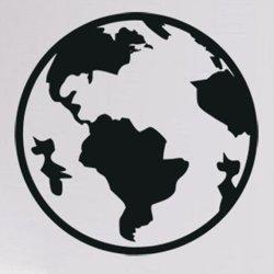 Samolepky na zeď Planeta Země 1225