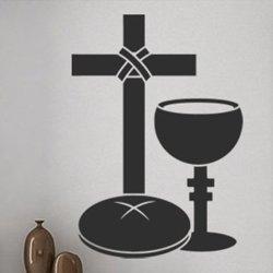 Samolepky na zeď Kříž a pohár 1386