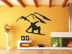 Samolepky na zeď Snowboardista 0968