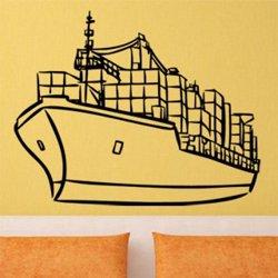 Samolepky na zeď Loď s kontejnery 0941