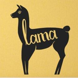 Samolepky na zeď Lama s nápisem 0621