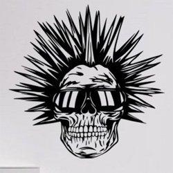 Samolepky na zeď Punk lebka 1209
