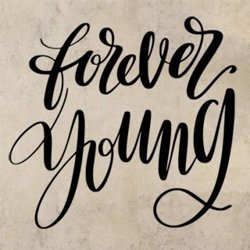 Samolepky na zeď Nápis Forever young 0649