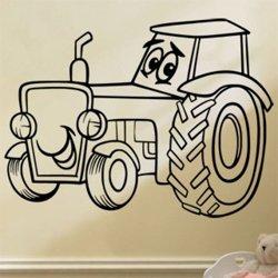 Samolepky na zeď Traktor 0713