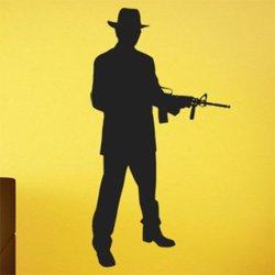 Samolepky na zeď Gangster 1119