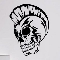 Samolepky na zeď Punk lebka 1172