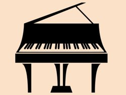 Samolepky na zeď Piano 009