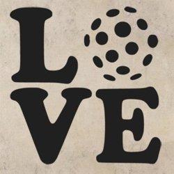 Samolepky na zeď Love floorball 1115