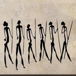 Samolepky na zeď Jeskynní lidé 003
