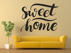 Samolepky na zeď Nápis Sweet Home 0625 - Samolepící dekorace a nálepka na stěnu