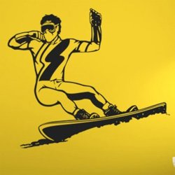 Samolepky na zeď Snowboardista 003