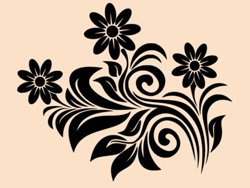 Samolepky na zeď Květiny 0300