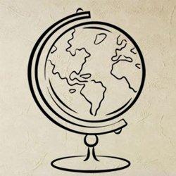 Samolepky na zeď Svět 003