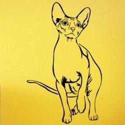 Samolepky na zeď Kočka 0497