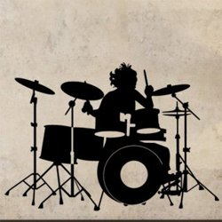 Samolepky na zeď Bubeník 001