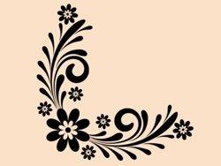 Samolepky na zeď Ornament s květinami 0178