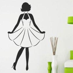 Samolepky na zeď Retro žena 1056
