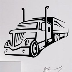 Samolepky na zeď Kamion 0741