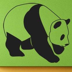 Samolepky na zeď Panda 004