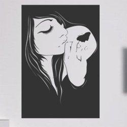 Samolepky na zeď Dívka 018