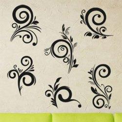 Samolepky na zeď Ornamenty z rostlin 042