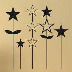 Samolepky na zeď Hvězdy 001