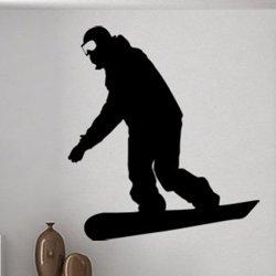 Samolepky na zeď Snowboardista 0970