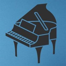 Samolepky na zeď Piano 003