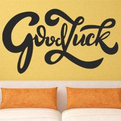 Samolepky na zeď Nápis Good luck 0655