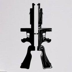 Samolepky na zeď Gangsterské zbraně 1121