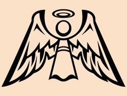 Samolepky na zeď Anděl s křídly 1245