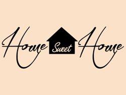 Samolepky na zeď Nápis Home Sweet Home 0630