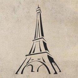 Samolepky na zeď Eifelova věž 002