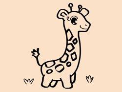 Samolepky na zeď Žirafa 001