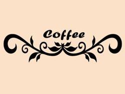 Samolepky na zeď Nápis Coffee 0106