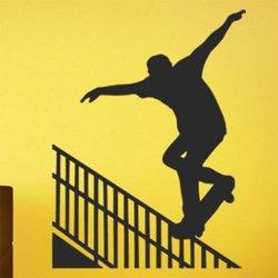 Samolepky na zeď Skateboardista 0950