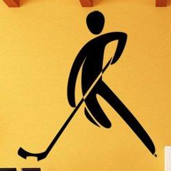 Samolepky na zeď Silueta hokejisty 0705