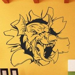Samolepky na zeď Hlava draka 1258