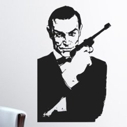Samolepky na zeď James Bond 001