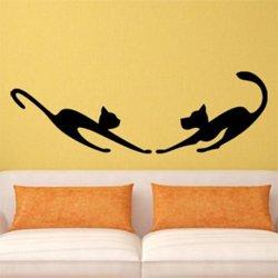 Samolepky na zeď Kočka a pes 0564