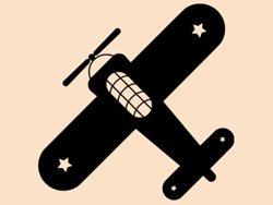 Samolepky na zeď Letadlo 001