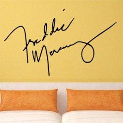 Samolepky na zeď Freddie Mercury Podpis 1367