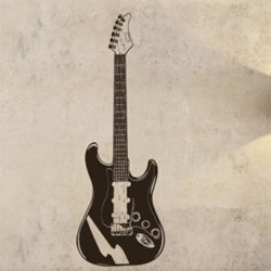 Samolepky na zeď Kytara 002