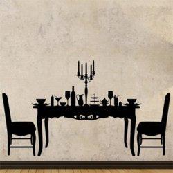 Samolepky na zeď Prostřený stůl 0113