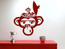 Samolepky na zeď Opička 002