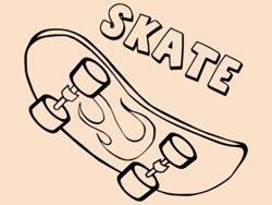 Samolepky na zeď Skateboard 0962