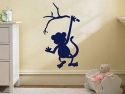 Samolepky na zeď Opička 001