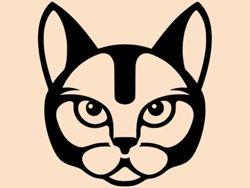 Samolepky na zeď Kočka 0490